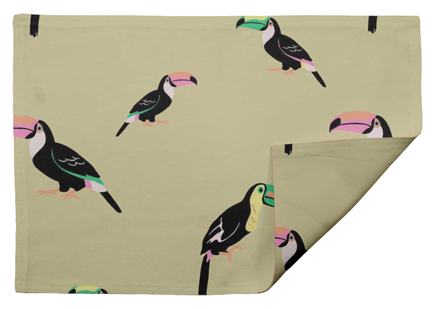 BRD-502H Details about  /S4Sassy Bird Table Decor Reversible Dining Washable Placemats Set