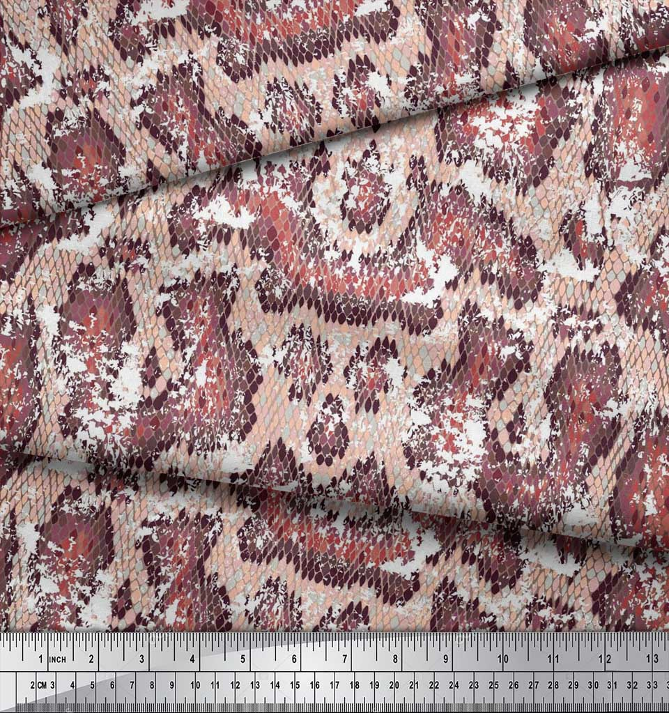 Soimoi-Cotton-Poplin-Fabric-Snake-Animal-Skin-Fabric-Prints-By-metre-rGy thumbnail 3