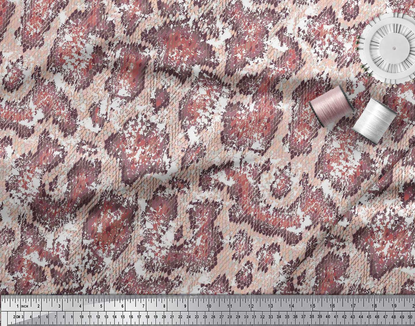 Soimoi-Cotton-Poplin-Fabric-Snake-Animal-Skin-Fabric-Prints-By-metre-rGy thumbnail 4