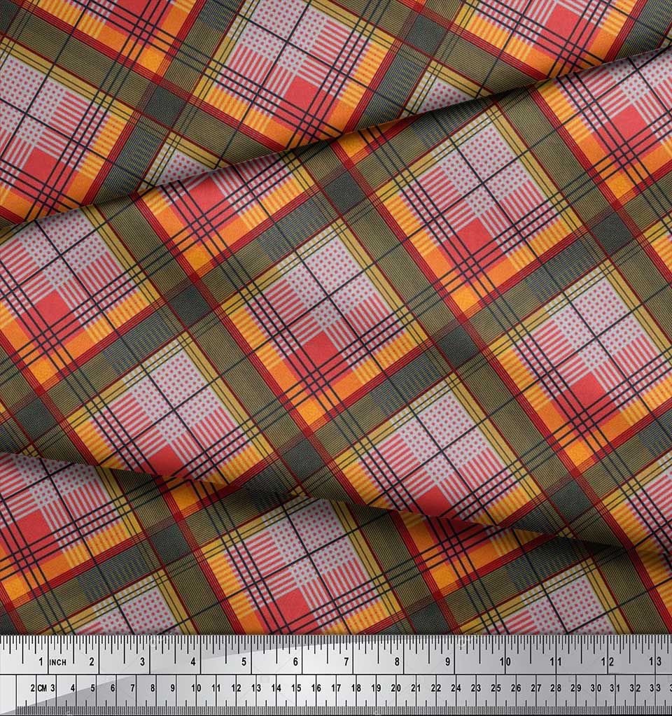 Soimoi-Cotton-Poplin-Fabric-Diagonal-Check-Print-Fabric-by-the-metre-KSh thumbnail 3