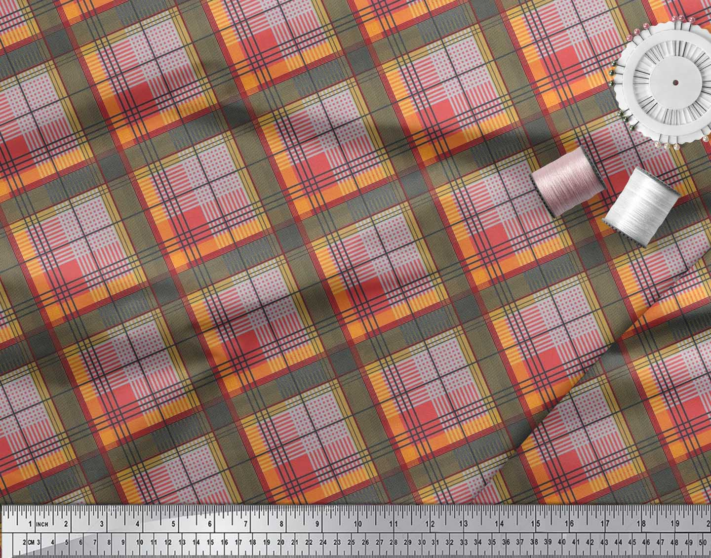 Soimoi-Cotton-Poplin-Fabric-Diagonal-Check-Print-Fabric-by-the-metre-KSh thumbnail 4