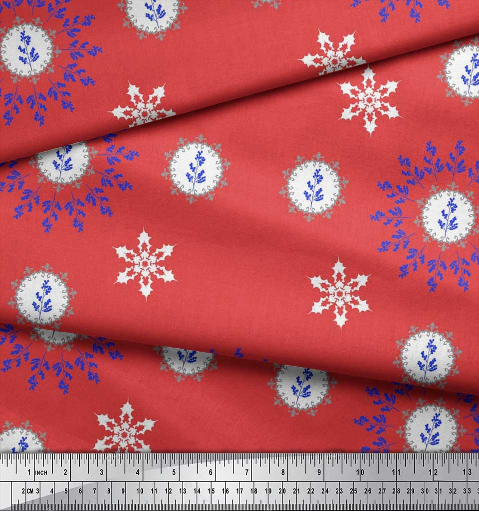 Soimoi-Fabric-Berries-amp-Damask-Decorative-Printed-Craft-Fabric-bty-DC-513A thumbnail 27