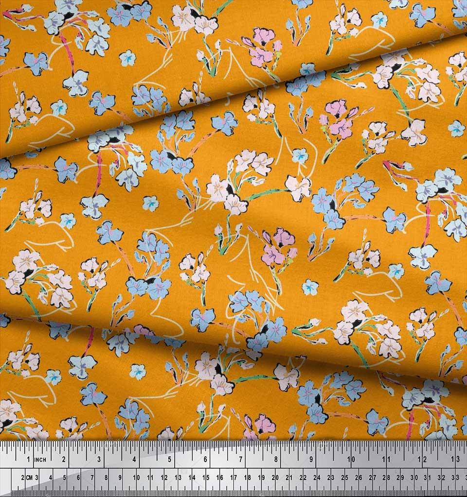 Soimoi-Cotton-Poplin-Fabric-Artistic-Floral-Printed-Fabric-1-metre-6Gf thumbnail 3