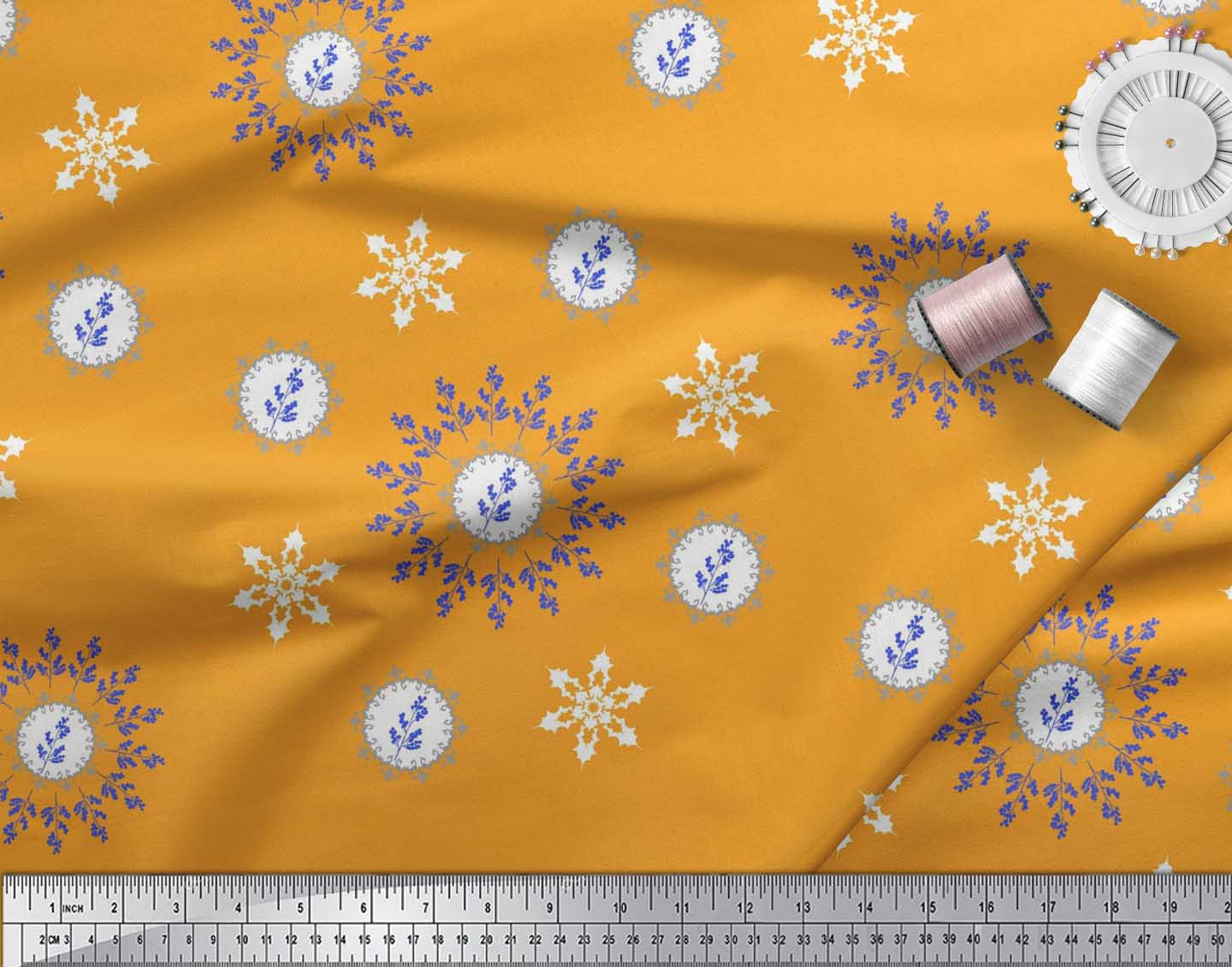 Soimoi-Fabric-Berries-amp-Damask-Decorative-Printed-Craft-Fabric-bty-DC-513A thumbnail 9