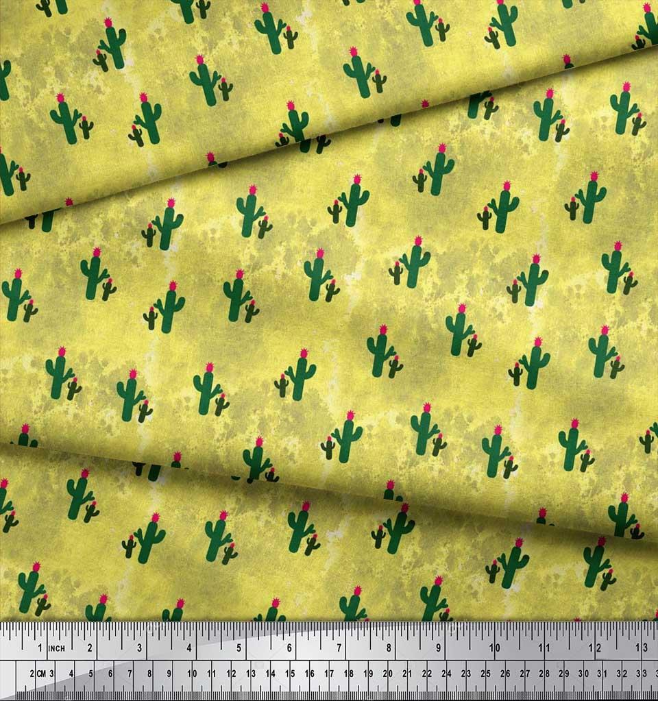 Soimoi-Cotton-Poplin-Fabric-Cactus-Tree-Fabric-Prints-By-metre-42-QOR thumbnail 4