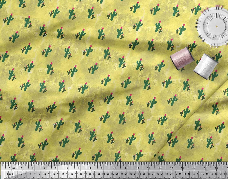 Soimoi-Cotton-Poplin-Fabric-Cactus-Tree-Fabric-Prints-By-metre-42-QOR thumbnail 3