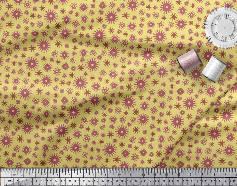 Soimoi-Cotton-Poplin-Fabric-Artistic-Floral-Print-Fabric-by-the-17F thumbnail 3