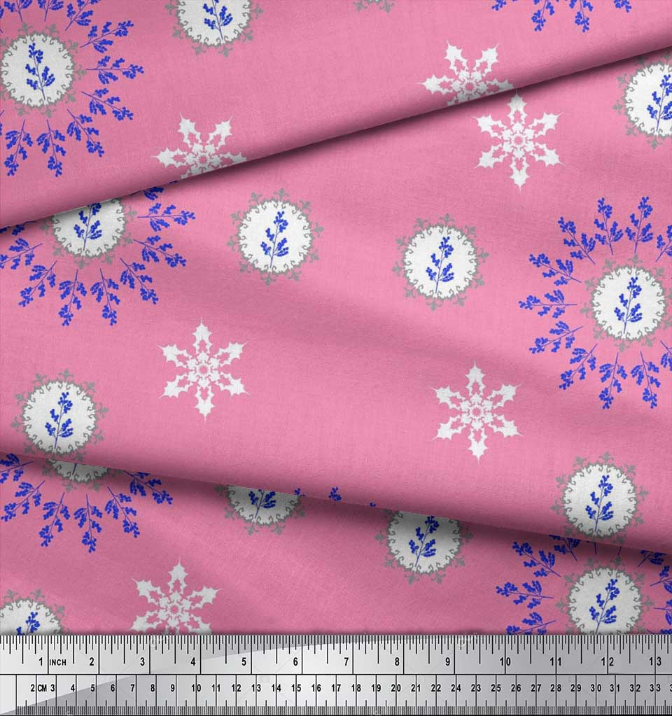 Soimoi-Fabric-Berries-amp-Damask-Decorative-Printed-Craft-Fabric-bty-DC-513A thumbnail 6