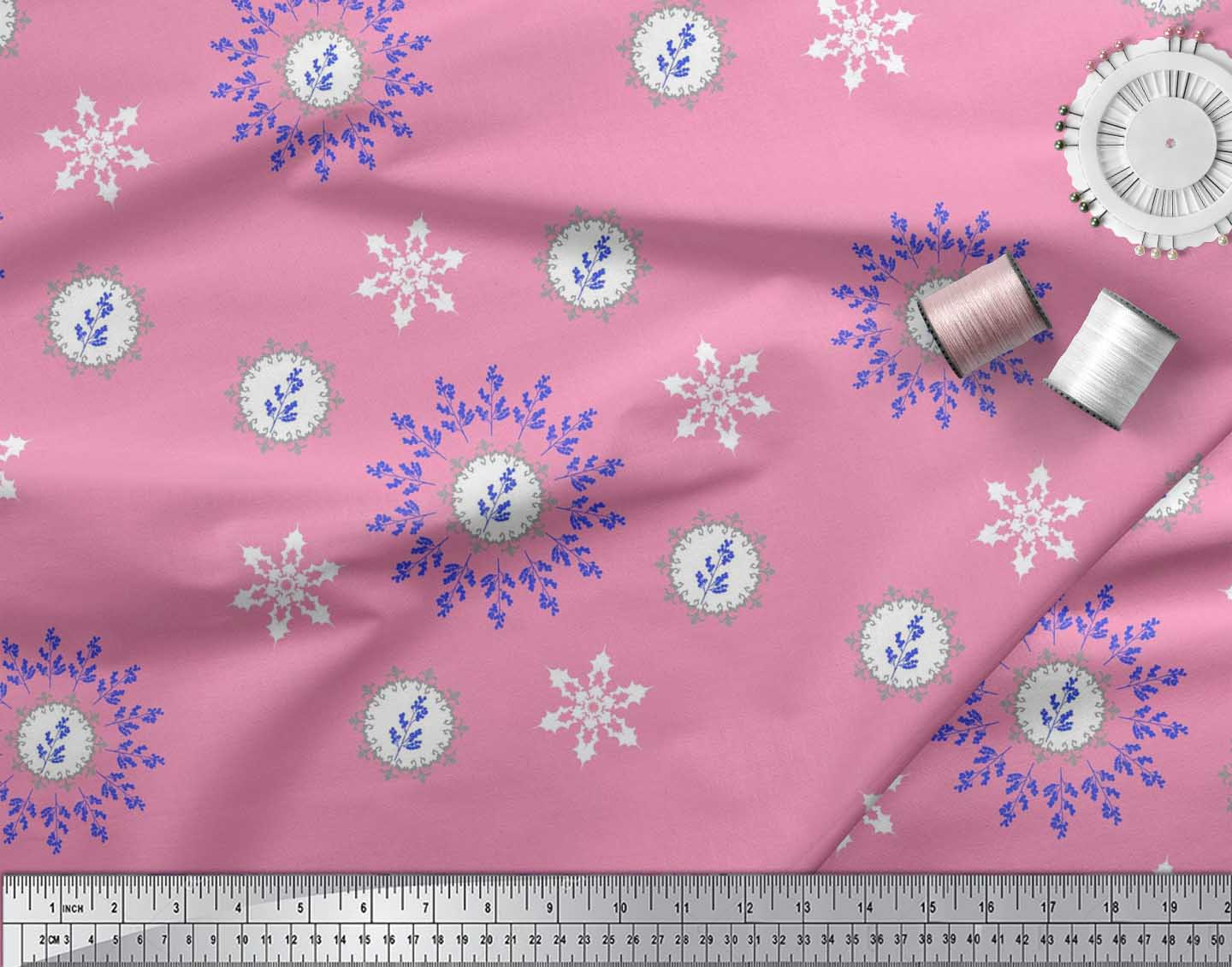 Soimoi-Fabric-Berries-amp-Damask-Decorative-Printed-Craft-Fabric-bty-DC-513A thumbnail 7