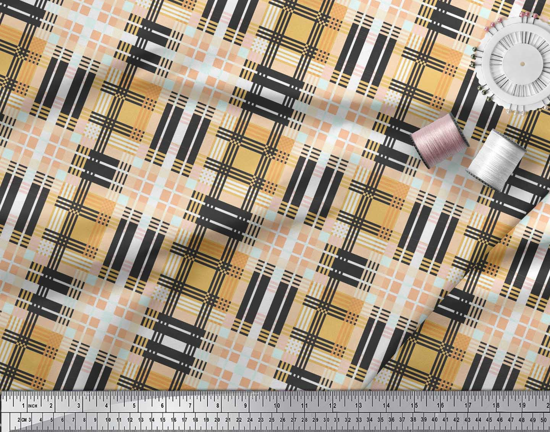 Soimoi-Cotton-Poplin-Fabric-Gingham-Check-Print-Fabric-by-metre-Q16 thumbnail 3