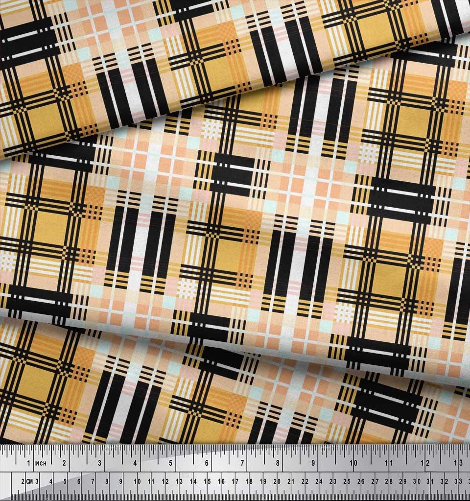 Soimoi-Cotton-Poplin-Fabric-Gingham-Check-Print-Fabric-by-metre-Q16 thumbnail 4