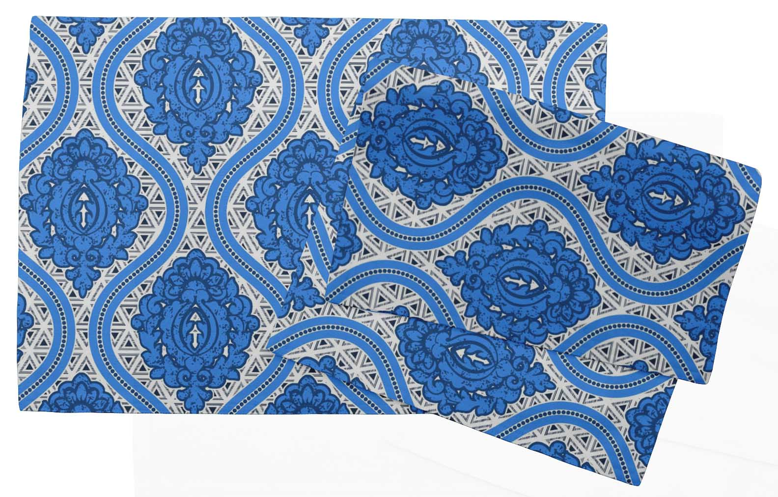 S4Sassy Geometric Printed Reversible Fabric Placemats Table Dining Mats-GMD-35A