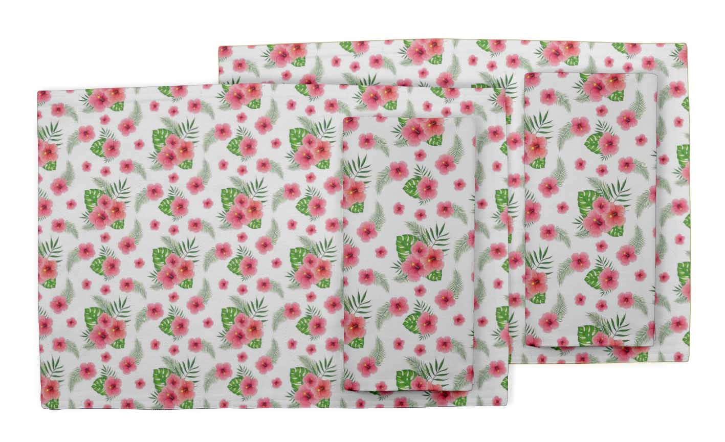Details about  /S4Sassy Leaves /& Water Lily Floral Washable Tablemats With Napkins Set-FL-612P